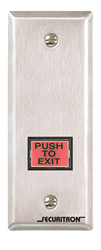 "Securitron EEB3N-R 1"" x 3/4"" Rectangle Emergency Exit Red Button Narrow Stile"