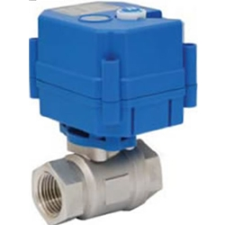S3412V ¾ inch Stainless Steel 12 VDC Actuated Ball Valve