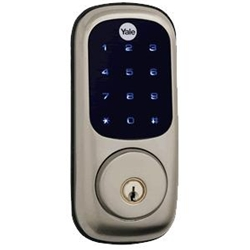 D220NCR619 - Motorized Deadbolt w/Touchscreen - Satin Nickel