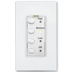 UCQF-W UPB 3-Speed Fan Controller with 4 Oval Buttons