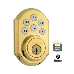 99100-015 - ZigBee Motorized Deadbolt w/Home Connect - Polished Brass