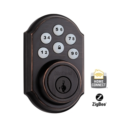 99100-021 - ZigBee Contemporary Style Motorized Deadbolt w/Home Connect - Venetian Bronze