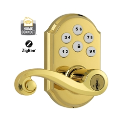 99120-007 - ZigBee Motorized Lever w/Home Connect - Polished Brass