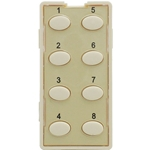 Simply Automated ZS28O-A Almond 8 Oval Button Faceplate