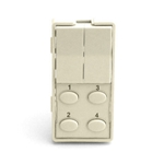 Simply Automated ZS26O-LA Light Almond 2 Rocker and 4 Oval Button Faceplate