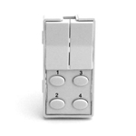 Simply Automated ZS26O-LW White 2 Rocker and 4 Oval Button Faceplate