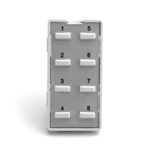 Simply Automated ZS28B-W White 8 Thin Bar Button Faceplate