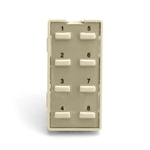 Simply Automated ZS28B-A Almond 8 Thin Bar Button Faceplate