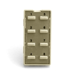 Simply Automated ZS28B-I Ivory 8 Thin Bar Button Faceplate