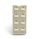 Simply Automated ZS28B-LA Light Almond 8 Thin Bar Button Faceplate