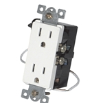 Simply Automated URD-30-W White Wall Receptacle - Wire In 12A