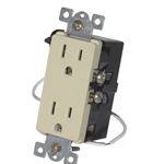 Simply Automated URD-30-I Ivory Wall Receptacle - Wire In 12A