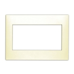 Leviton Acenti ACWP3-A 3-Gang Snap-On Polymer Wallplate - Natural