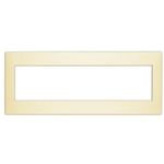 Leviton Acenti ACWP6-D 6-Gang Snap-On Polymer Wallplate - Driftwood
