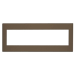 Leviton Acenti ACWP6-C 6-Gang Snap-On Polymer Wallplate - Cocoa