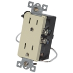 URD-V0-A Anywhere Almond Wall Receptacle - Wire In 12A