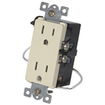 URD-V0-I Anywhere Ivory Wall Receptacle - Wire In 12A