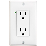 URD-V0-W Anywhere White Wall Receptacle - Wire In 12A