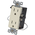 URD-V0-LA Anywhere Light Almond Wall Receptacle - Wire In 12A