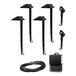 8409-1901-06 Charcoal Brown 6-Piece Modern LED Light Kit