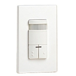 Leviton ODS0D-TDW Dual-Relay Decora Wall Switch Passive Infrared (PIR) Occupancy Sensor - White